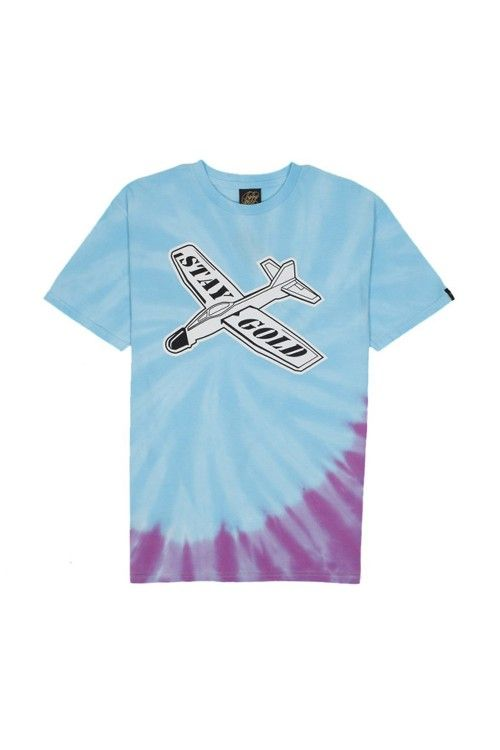 The Glider Tie Dye Tee from Benny Gold.  Large front print 100% cotton soft ring-spun shirt.