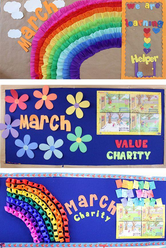 Frisos mes de marzo primavera decoraci n del aula for Puertas decoradas para el 10 de mayo
