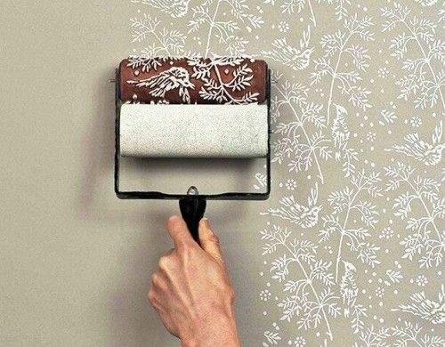 floral formen streichen Wandmuster Ideen wanddekoration Diy