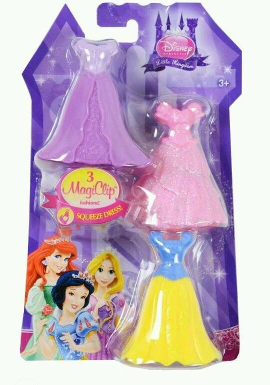 Easter Basket Treats 99 Cent Auctions 3 MAGICLIP SNOW WHITE ROYAL DRESSES Disney Princess Little Kingdom Doll NEW NR In Toys Hobbies
