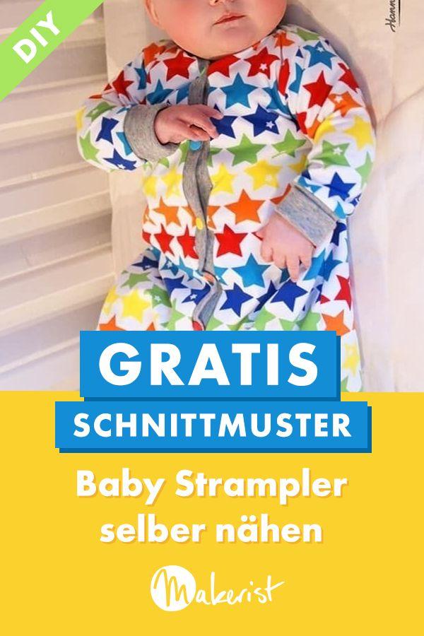 Babystrampler selber nähen #freebookschnittmuster