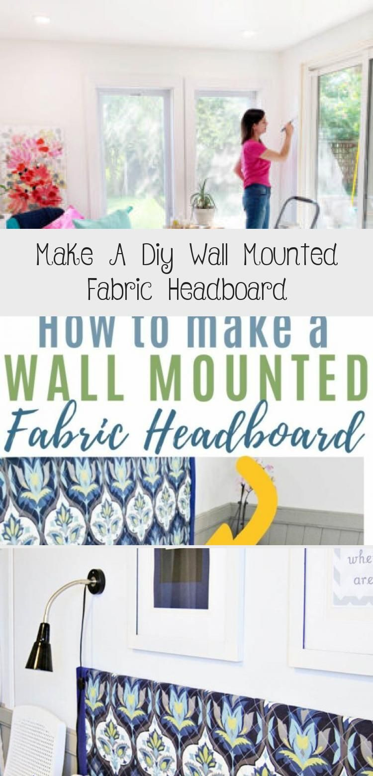 How to make a hanging, wall mounted fabric headboard from two 20×24 canvases. This is a simple, inexpensive headboard idea that is perfect for renters!  CLICK for the FULL TUTORIAL  #headboard #smallspace #fabricheadboard #video #diypassion #HomeDecorDIYVideosCheap #HomeDecorDIYVideosIdeas #HomeDecorDIYVideosOnABudget #HomeDecorDIYVideosProjects #HomeDecorDIYVideosLivingRoom