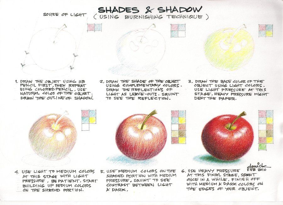 Tutorial on erotic art color pencil