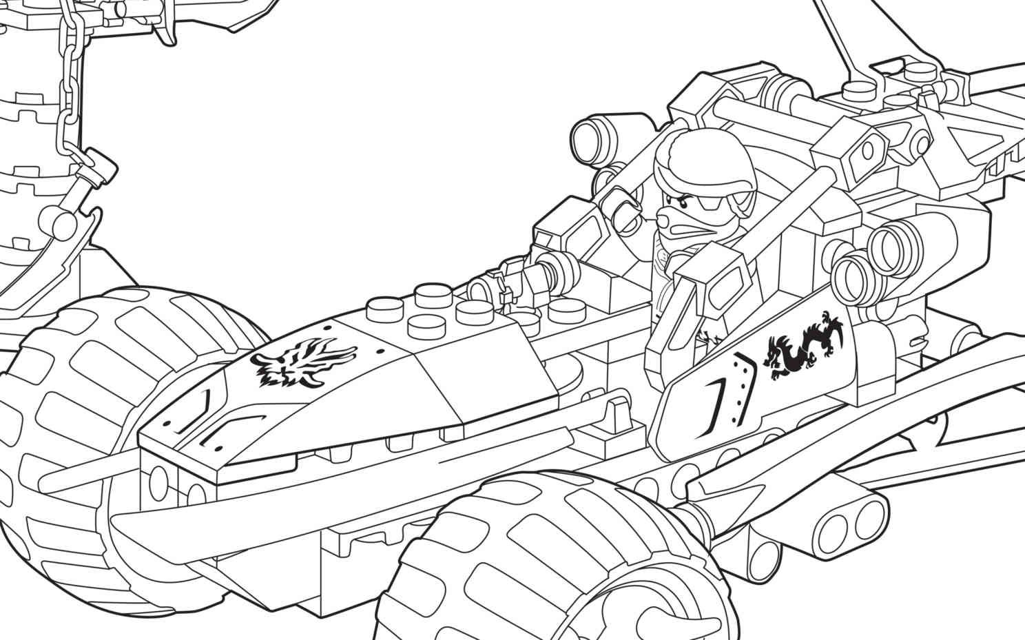 LEGO Ninjago 70755 coloring sheet