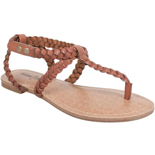 Minnetonka Women's Liberty Thong Sandal (563.060 IDR) ❤ liked on Polyvore  featuring shoes,