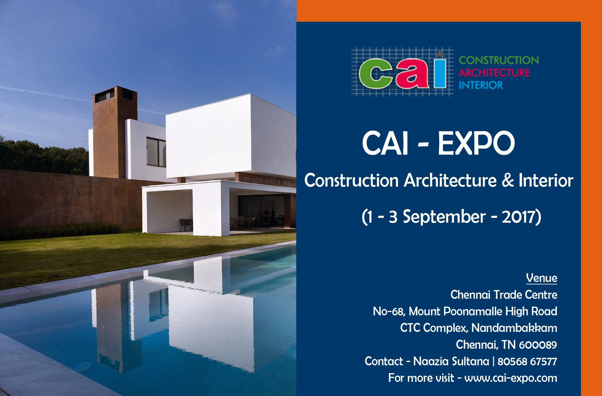CONSTRUCTION ARCHITECTURE INTERIOR DESIGN EVENTS EXHIBITION 2017 CAI Construction