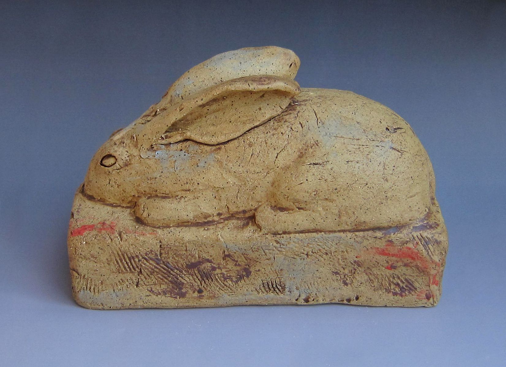 A rabbit brick. One of many... Handbuilt ceramic. Fred Yokel