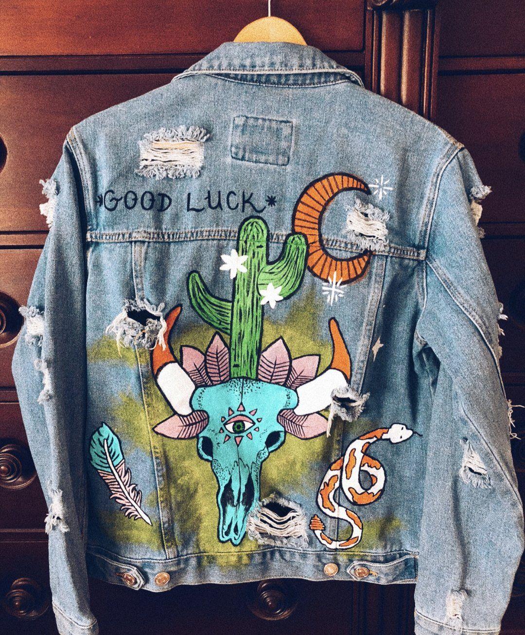 86e2ae25a GOOD LUCK pre-made jacket Ropa Pintada