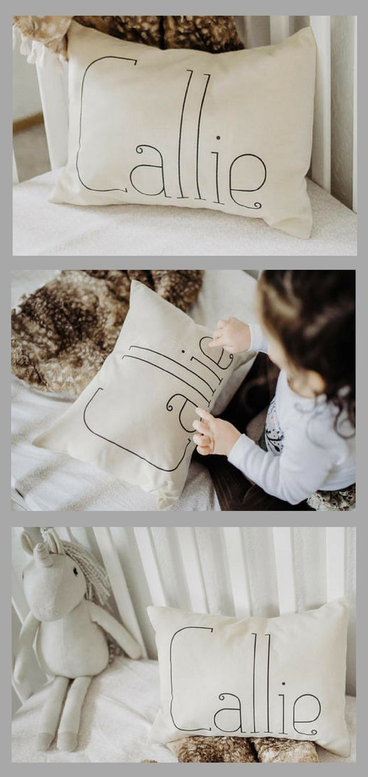 Personalized Baby Name Pillow - Newborn Gift Idea, Baby Shower Gift ...