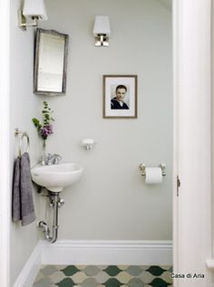 Charming SMALL SINK Solution For Very Tiny Powder Room In Living Room Area