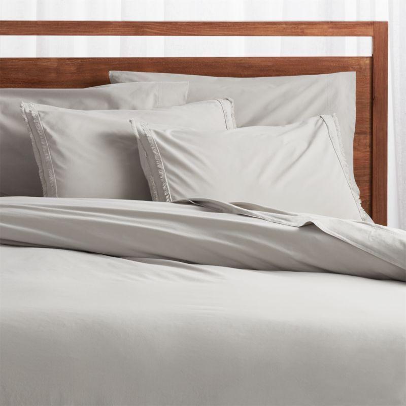 Organic Cotton Grey King Bedding Set Reviews Crate And Barrel Gray Duvet Cover Grey Duvet Full Bedding Sets