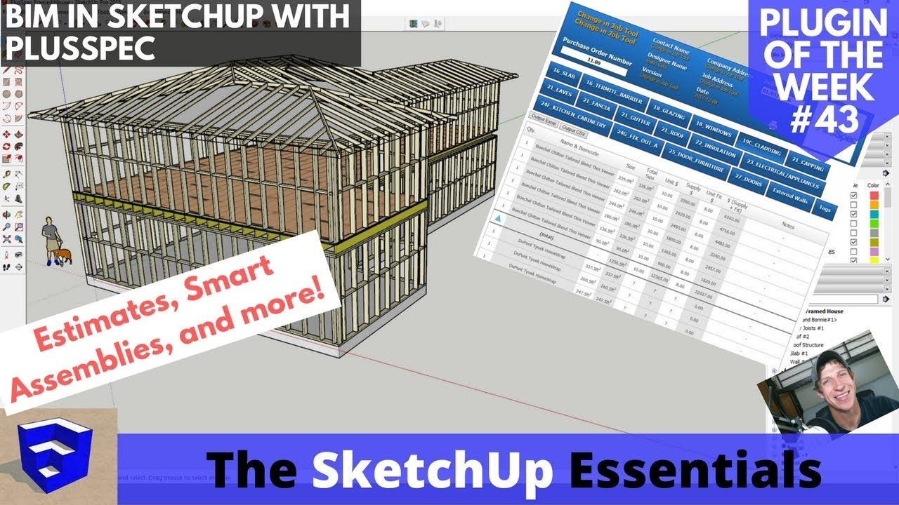 Smart Models In Sketchup With Plusspec The Bim Extension