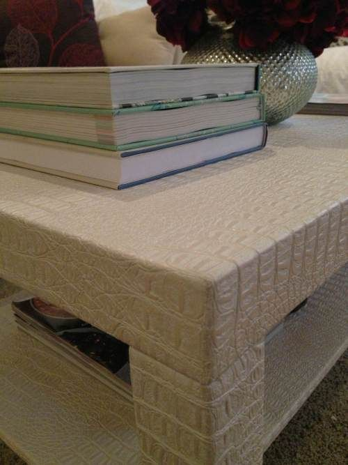 awesome ikea hack! a lack coffee table upholstered with faux