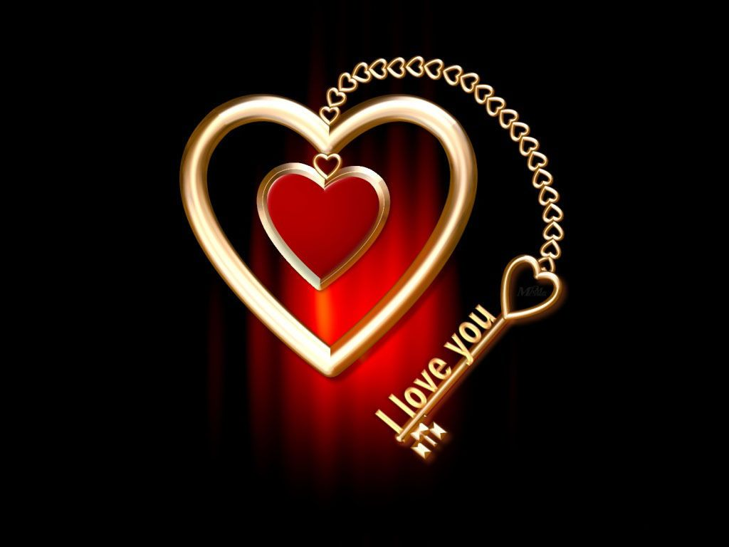 Love iloveukeyheartwallpaper I Heart U Images