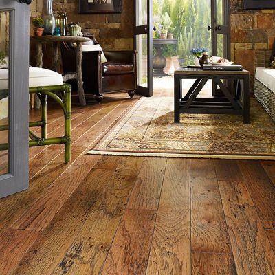 Melrose Hickory 3 8 Thick X 5 Wide X Varying Length Engineered Hardwood Flooring Hickory Hardwood Floors Installing Hardwood Floors Hickory Flooring