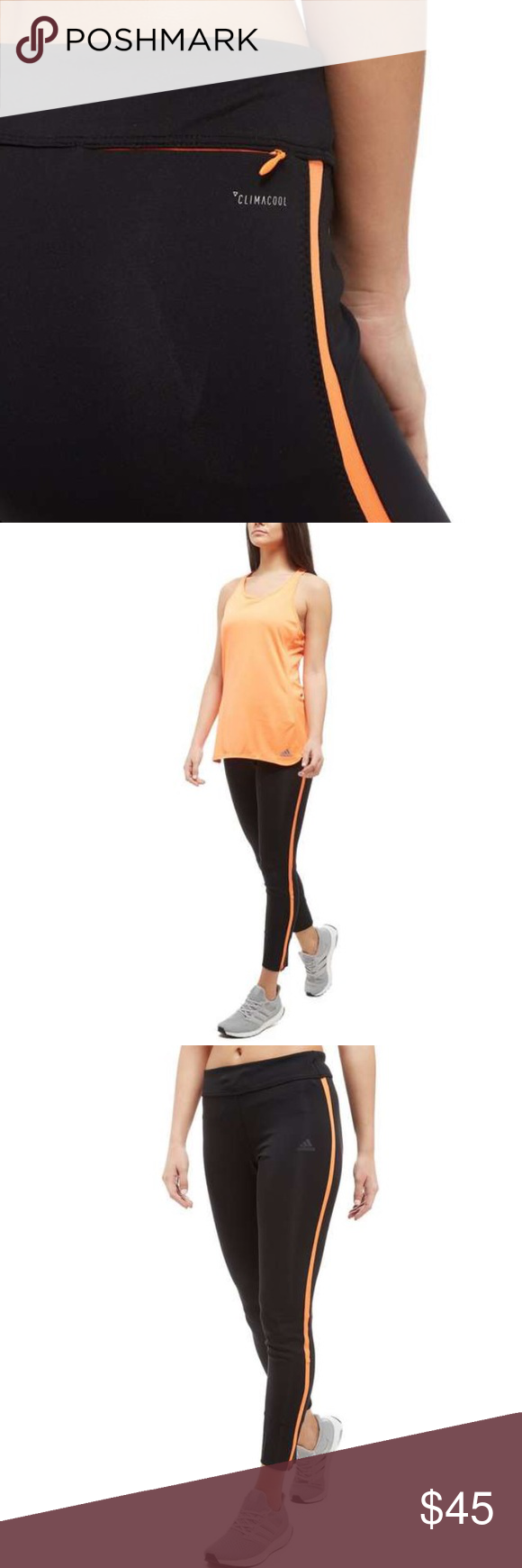 80a3b65c9ea3d7 Adidas Running leggings. NWT. very comfortable cut Look good while going  the extra mile in these women's Response Running Tights from adidas.