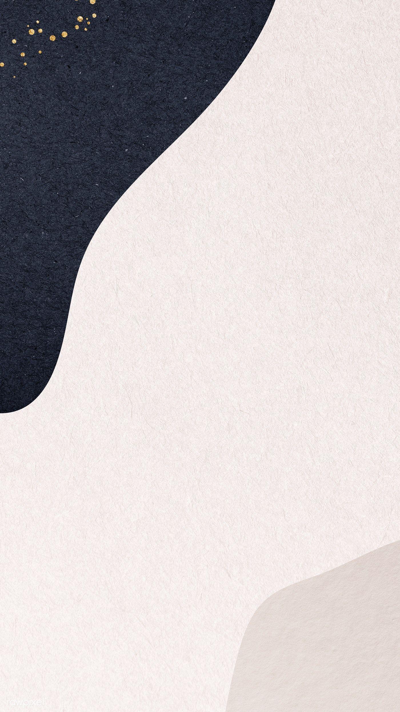 Download premium illustration of Blue patterned on beige background