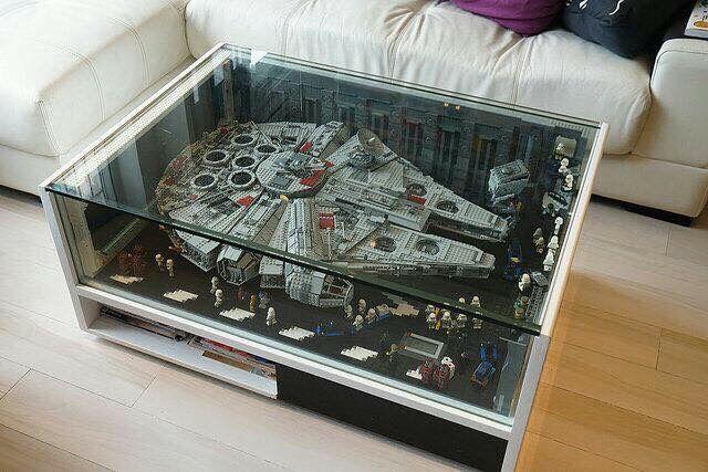 You might want to use a coaster on this table...#starwars #lego