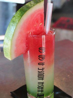 Kiwi Watermelon Lemonade - kiwi syrup (available at most liquor stores), lemonade, watermelon juice, & vodka