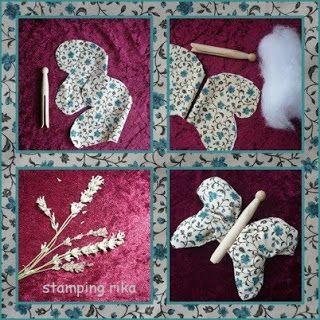 gebruik een oude houten wasknijper als lijfje van een vlinder (wasknijpers te koop op: www.houtspel.nl )