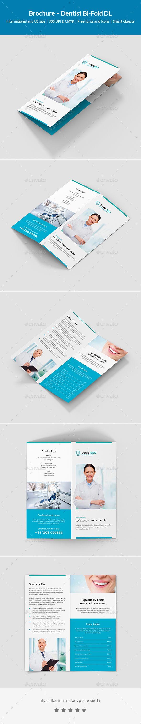 brochure dentist bi fold dl informational brochures