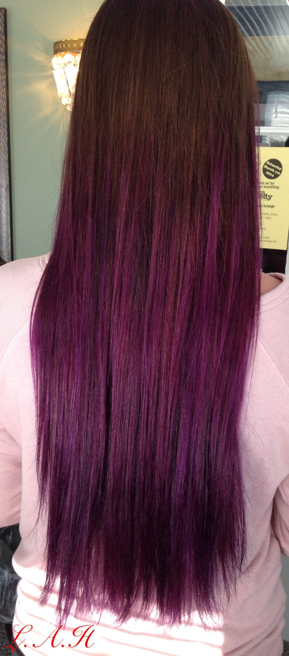 Dark to purple!! So fun