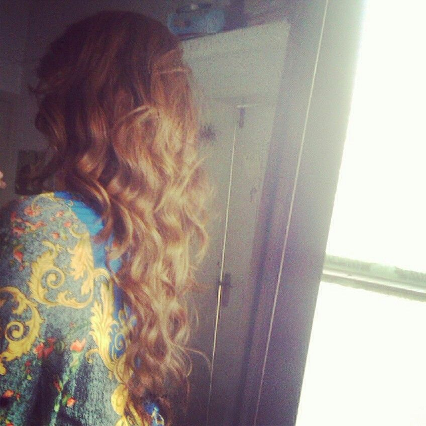Curls with a curling iron