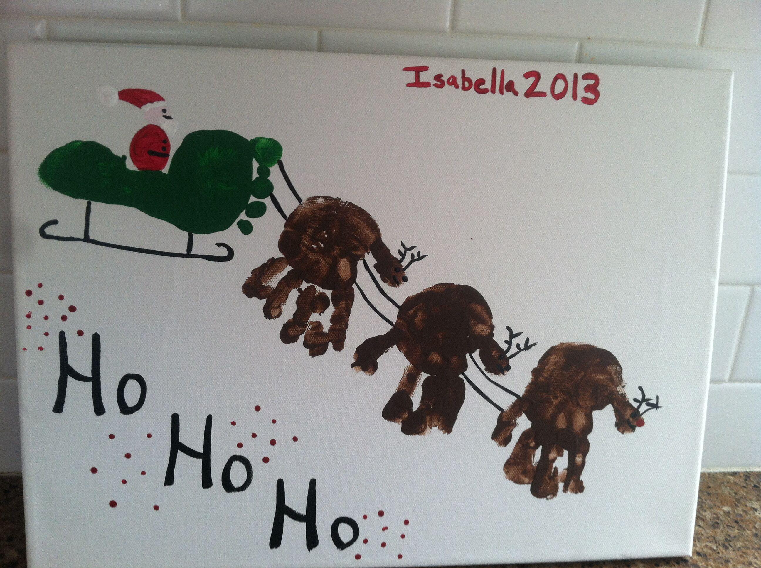 Christmas Craft For Kids Handprint Footprint