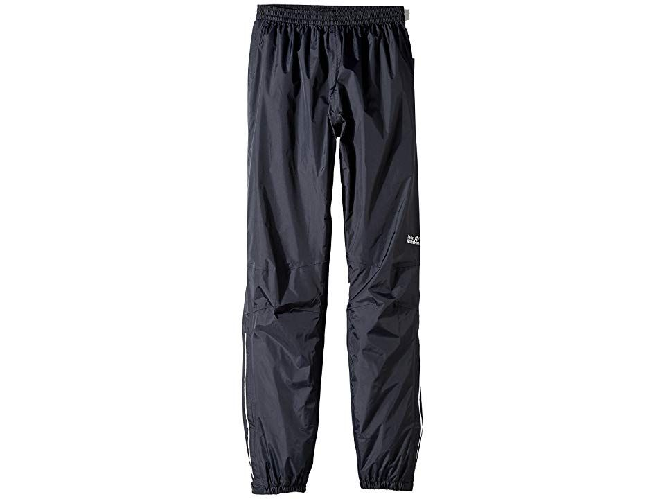 Jack Wolfskin Kids Rain Pants Little KidsBig Kids Black Kids Casual Pants The rain wont stop you from getting outside so cover up in these waterproof rain pants before th...