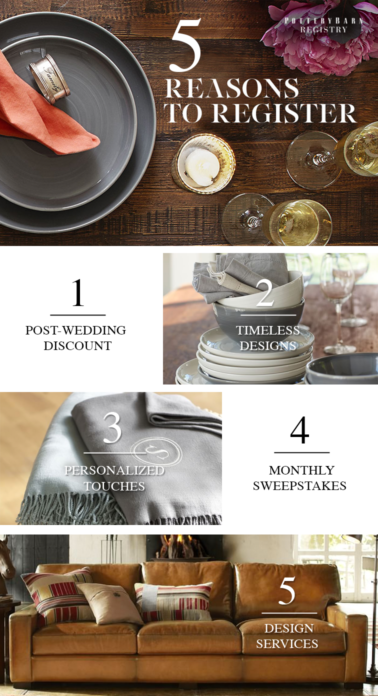Make The Gift Giving And Wedding Registry Process Simple With Pottery Barn Find Create Manage Your S Easy To Use