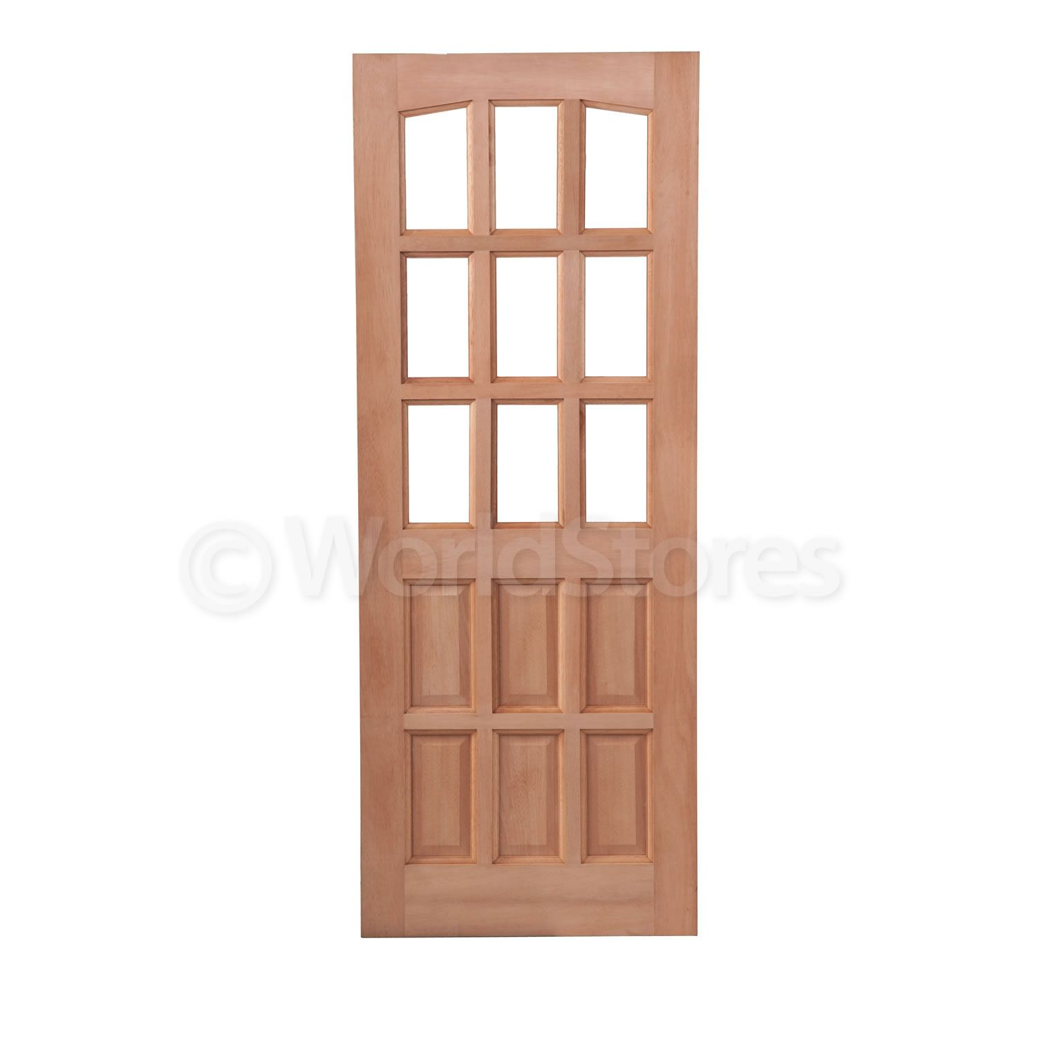 Lpd Alicante Exterior Door Hardwood 9 Lites 6 Panels 3