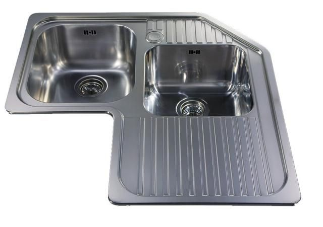These 10 Pictures Will Change Your Mind About Stainless Steel Sinks Corner Sink Corner Sink Kitchen Steel Kitchen Sink