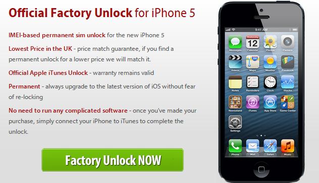 Unlock iPhone 5 Using Official iPhone 5 Unlock Service