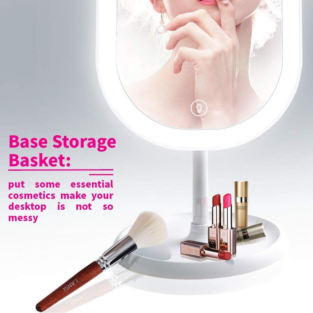 Led Lighted Makeup Mirror With Lights Portable Vanity Mirror