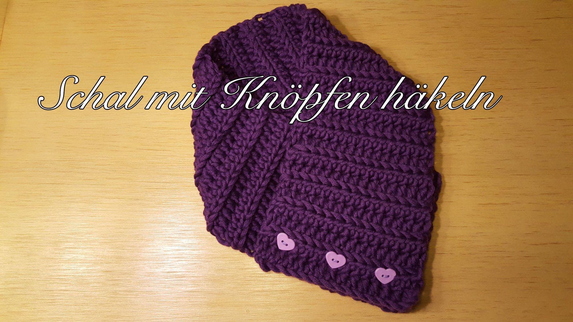 Schal mit Knöpfen häkeln Loop Schal Knopfschal für Kinder und ...