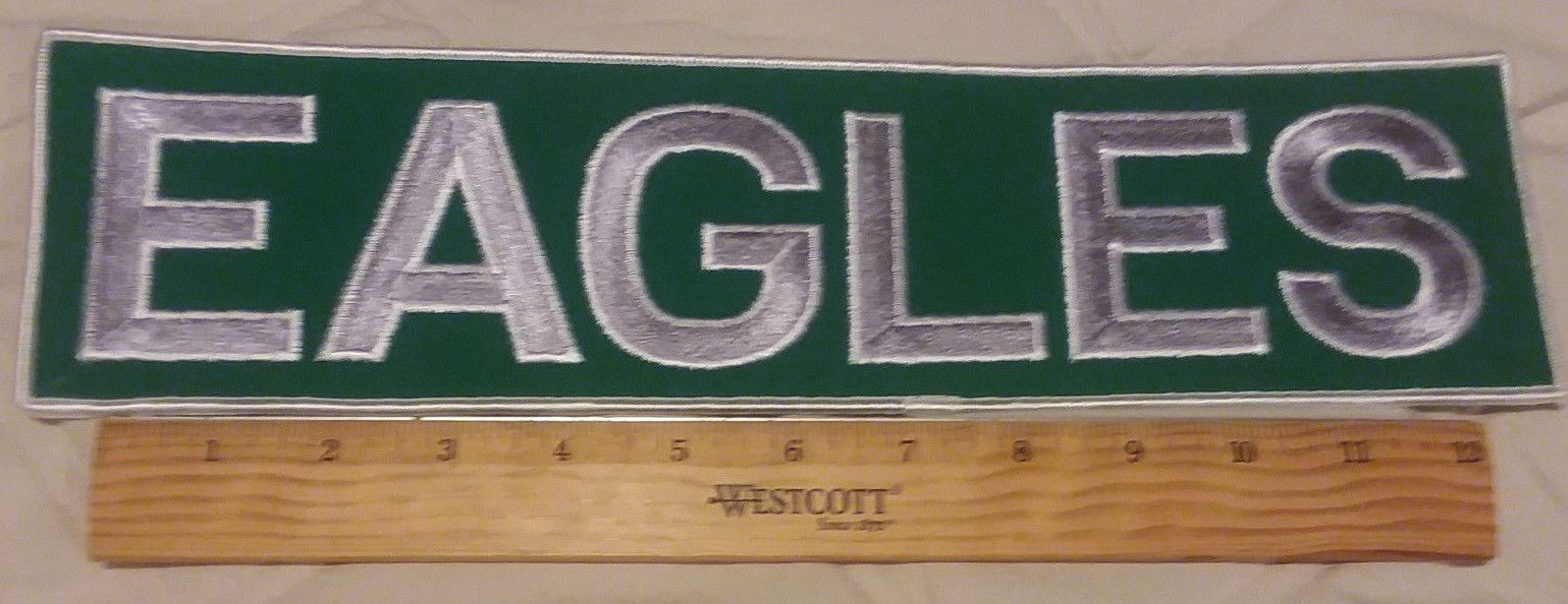 super popular 055e8 731a7 LARGE Philadelphia Eagles Patch 13.75 inches long | DIY ...