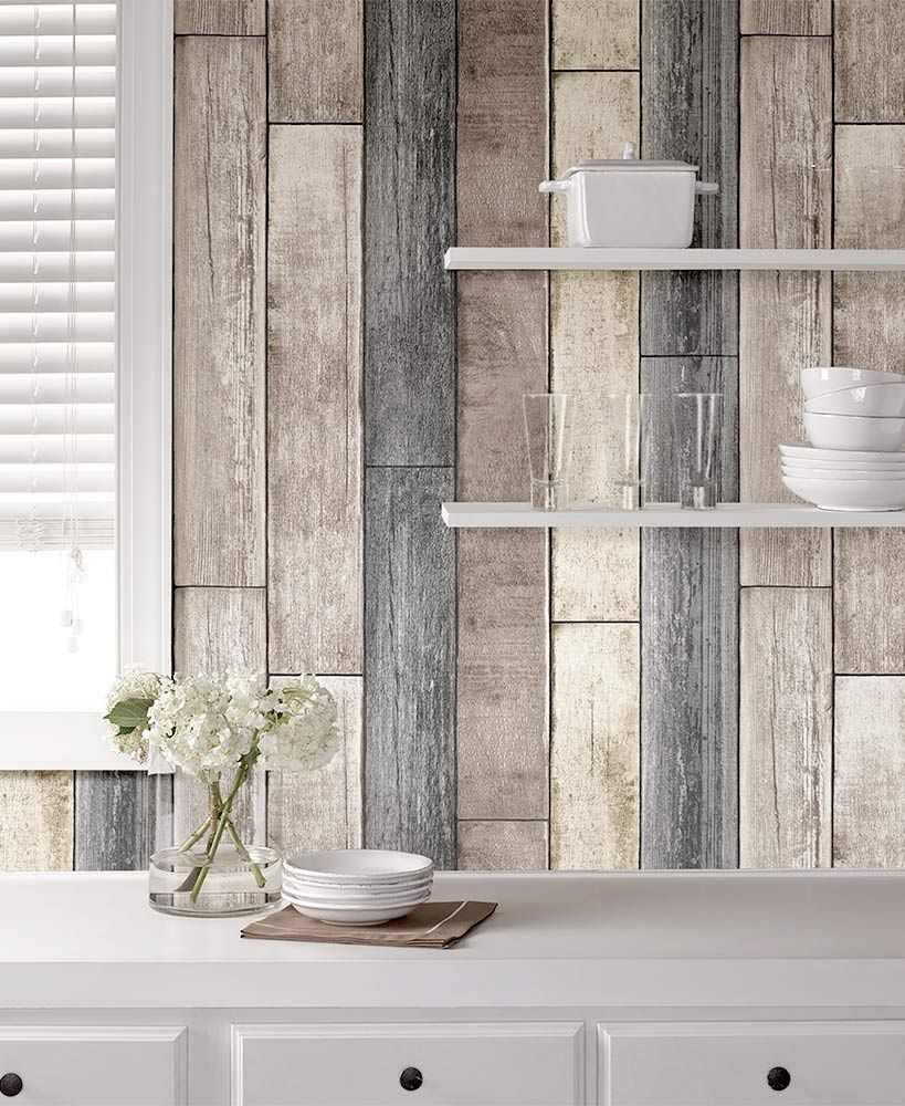 NuWallpaper™ Peel and Stick Wallpaper Wood plank