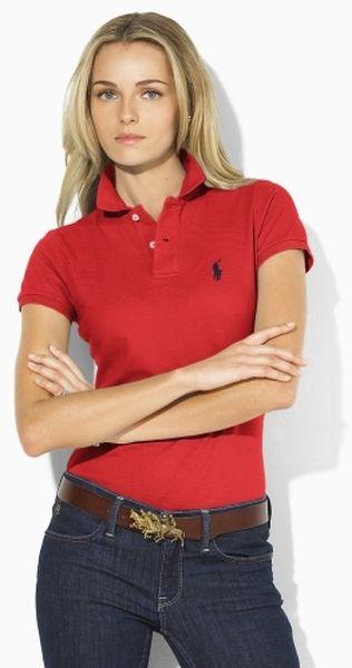 Polo Ralph Lauren Short-Sleeve Polo Shirt - Tops - Women - Macy s ... 462e72ae797