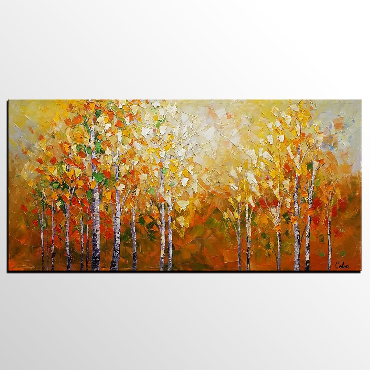 Landscape Painting, Large Art, Canvas Painting, Bedroom Wall Art ...