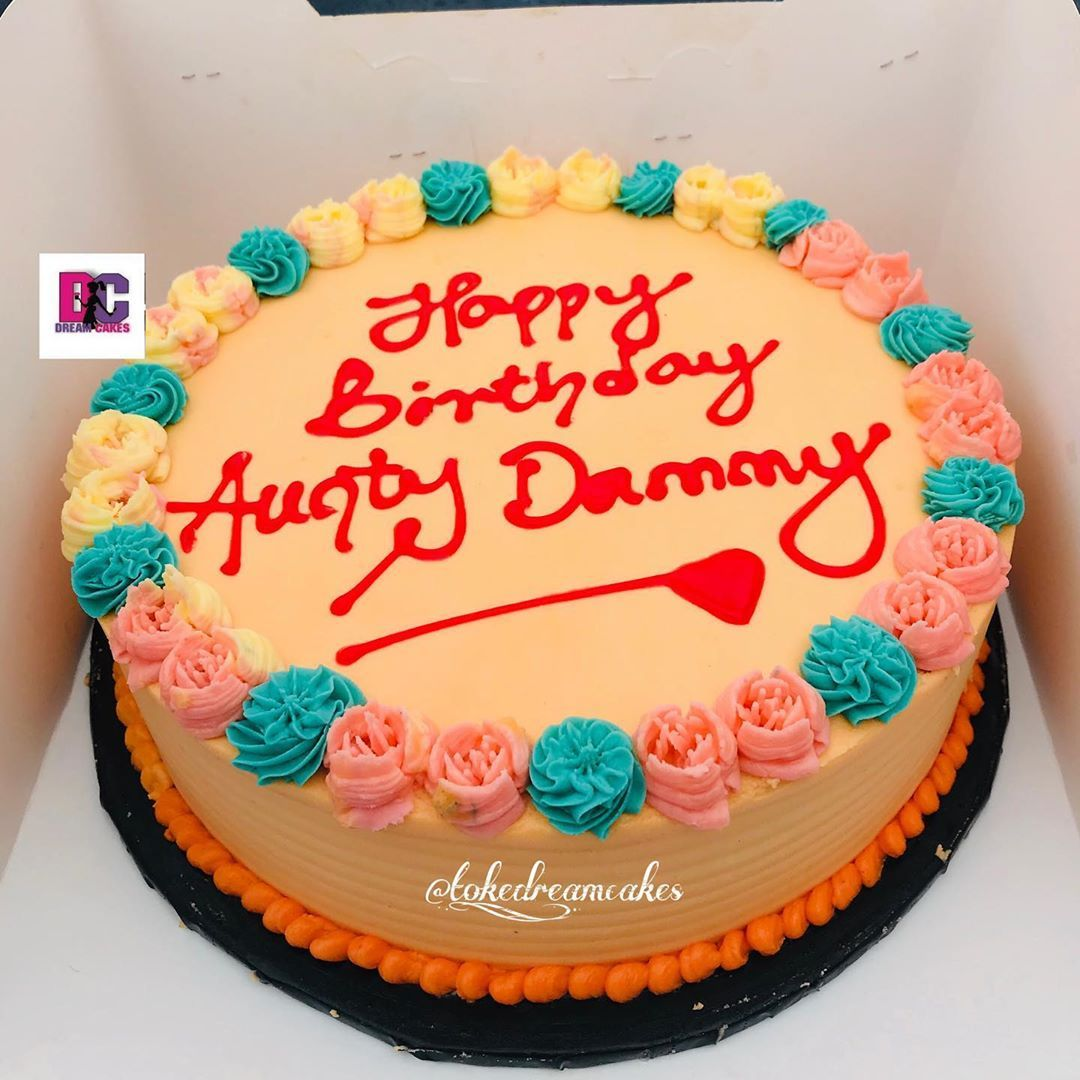 9 buttercream cake 🌸 . .  For booking and enquiries, send a DM, call or whatsapp  08053504655, 08168394139