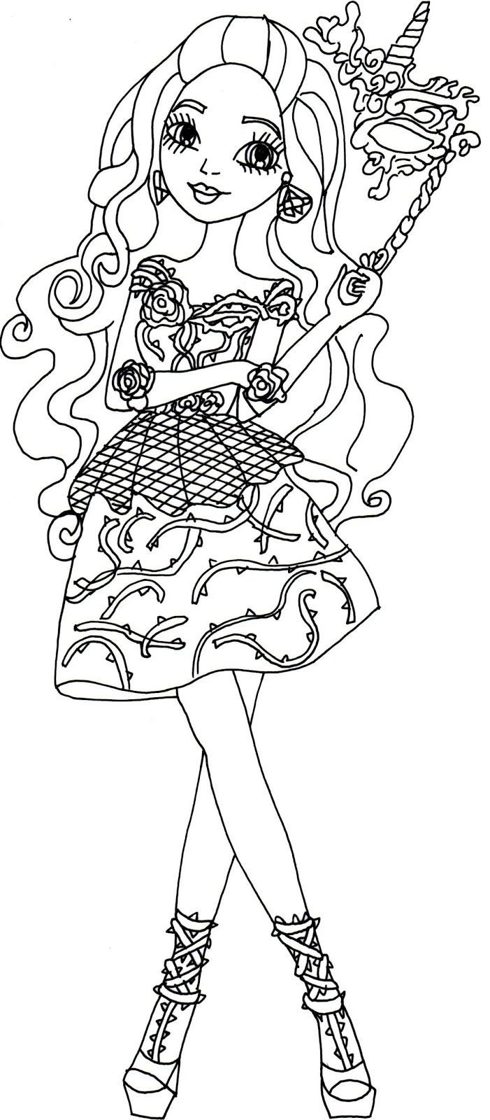 Briar Beauty Thronecoming Ever After High Coloring Page