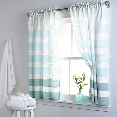 DKNY Highline Stripe 38 Inch X 45 Inch Cotton Window Curtain Panel Pair · Kitchen  CurtainsWindow ...