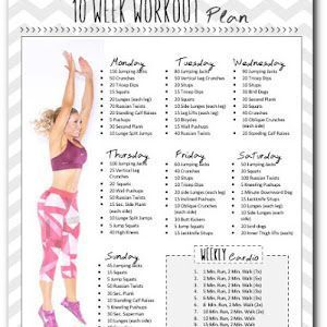level three exercise plan  weekly workout plans 10 week