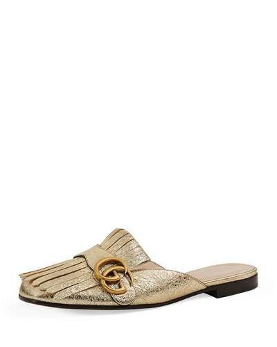 9b6cde48fdb Gucci Marmont Metallic Mule Loafer