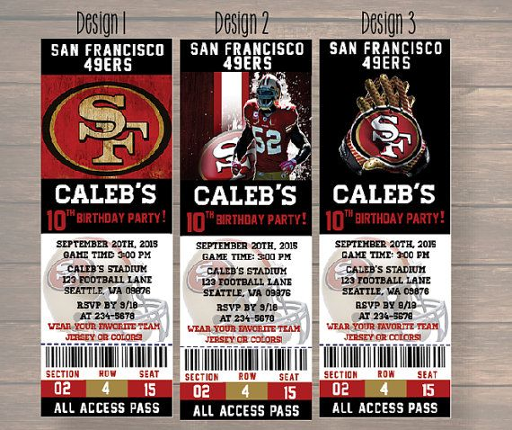 Personalized San Francisco 49ers Banner Birthday Poster Custom Name Painting Wall Art Decor