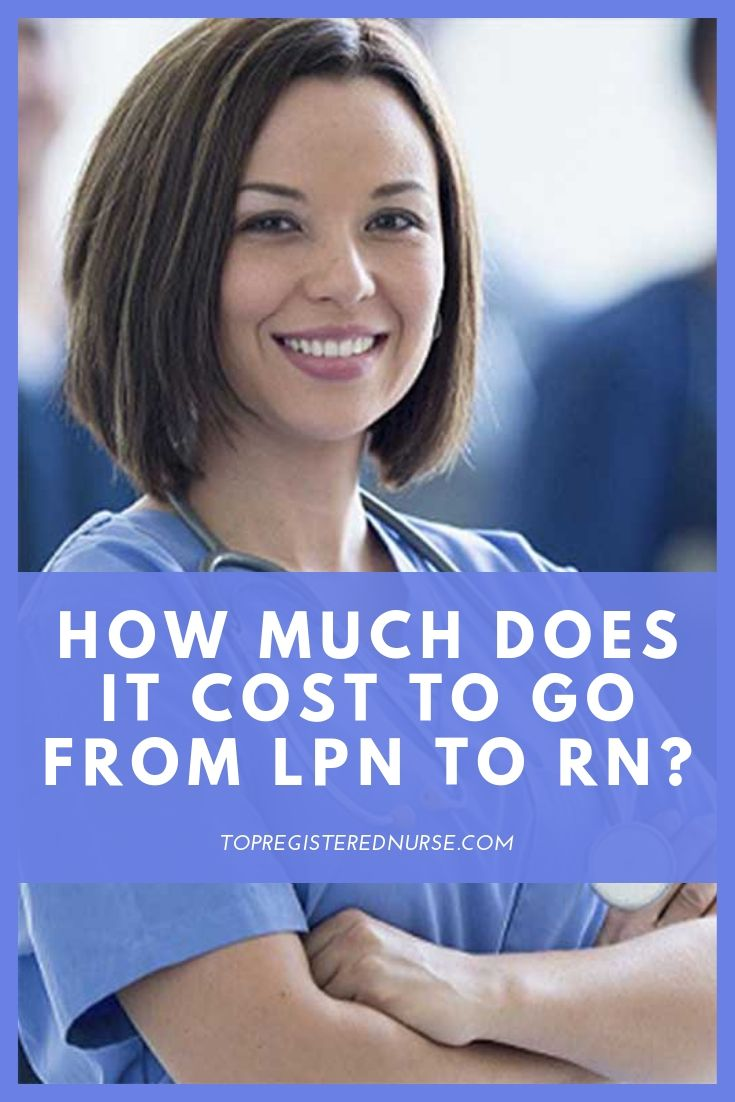How much does it cost to go from lpn to rn lpn lpn to