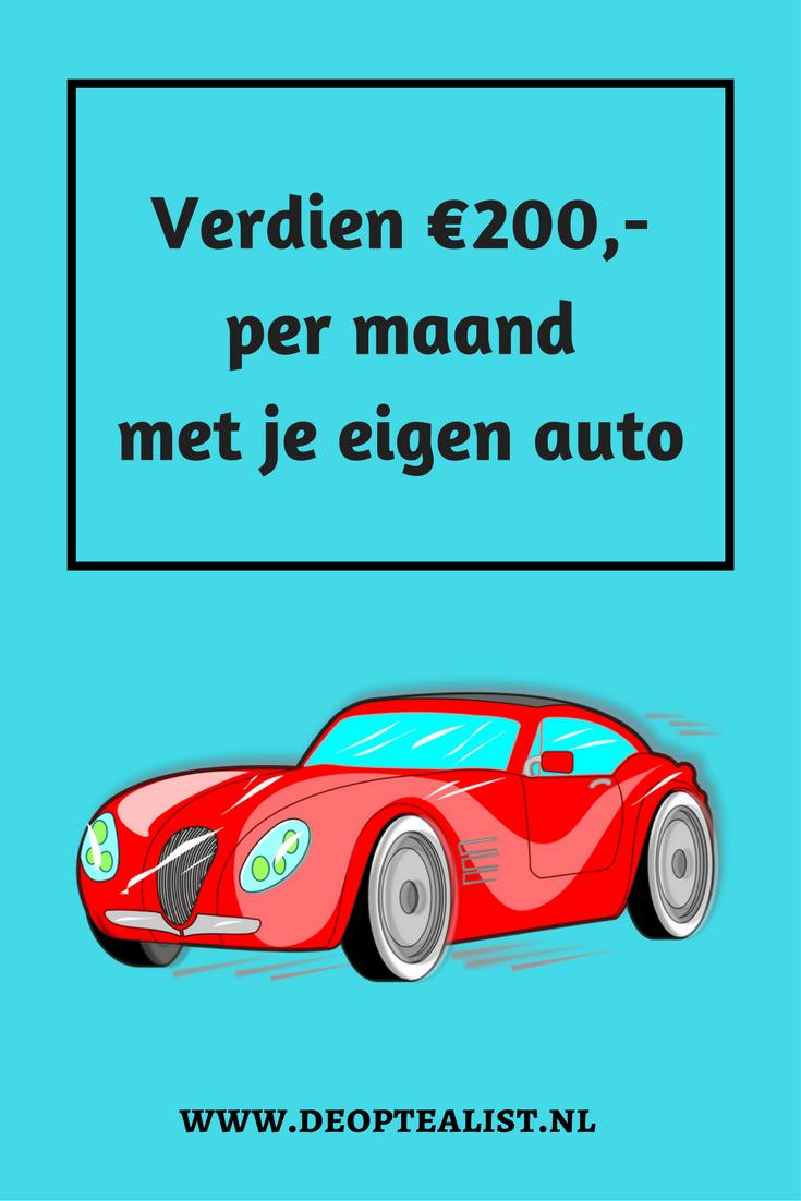 Geld verdienen met het delen van je auto