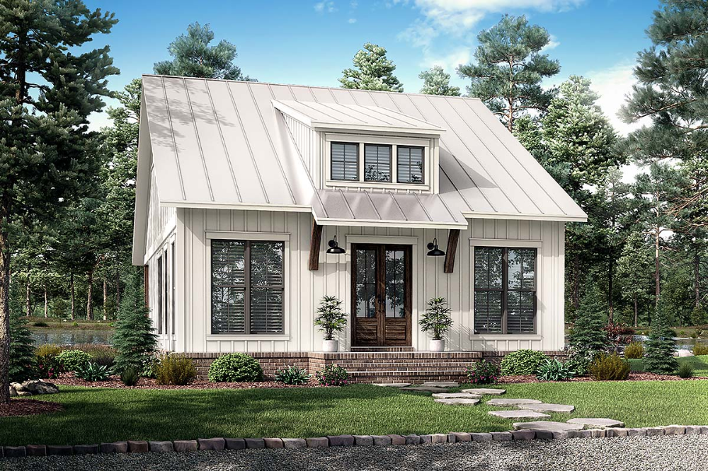 Southern Style House Plan with 2 Bed 1 Bath