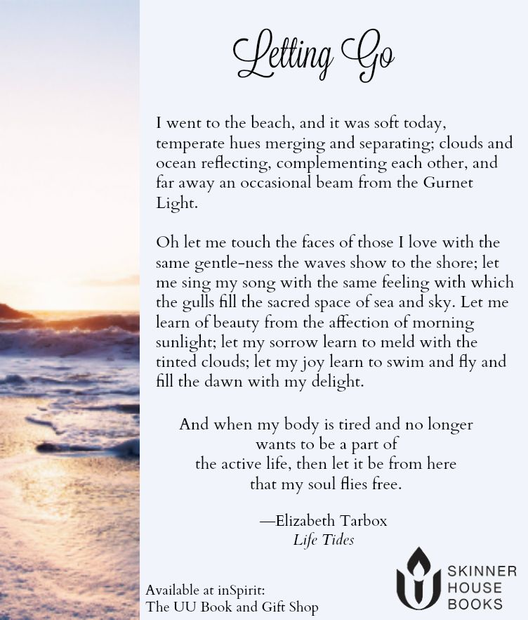 Letting Go by Elizabeth Tarbox. Taken from Life Tides ...