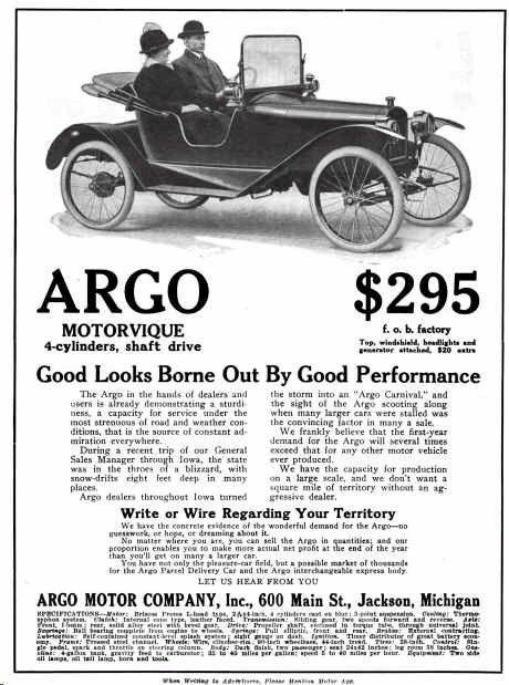 Argo Automobile Advertisement Argo Electric Car Ads